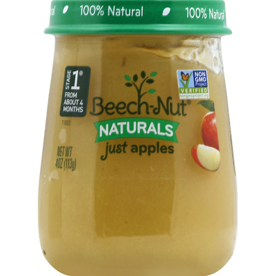 Lot 6 Jars Beech-Nut® Naturals™ Just Apples 4.0 oz