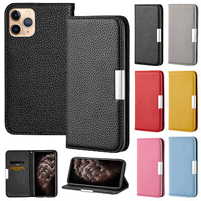 For iPhone 11 Pro Max 7 8+ XR XS 6s Cover Luxury Leather Card Holder Wallet Case