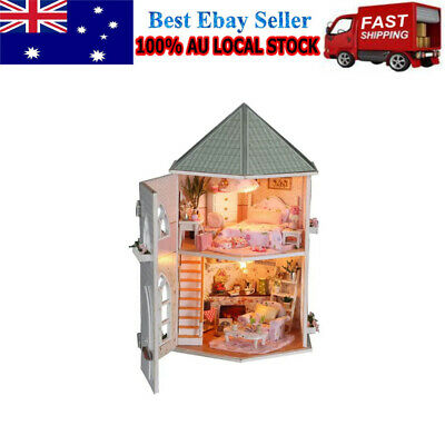 DIY Handcraft Miniature Kit Our Love Fortress Wooden Dolls House Xmas Gift