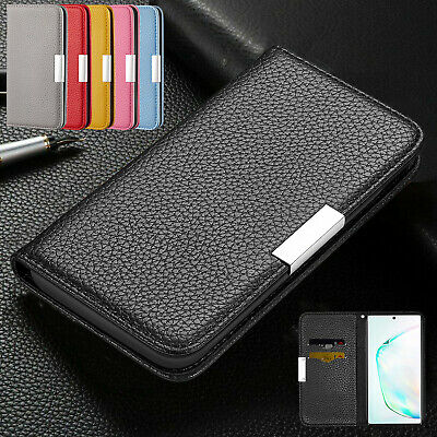 For Samsung Galaxy Note10 Plus S10 S9 S8 S7 Case Flip Leather Wallet Stand Cover