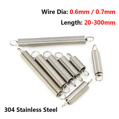 Extension Expansion Tension Spring Hook End Wire Dia 2mm OD 14mm-20mm L 20-300mm