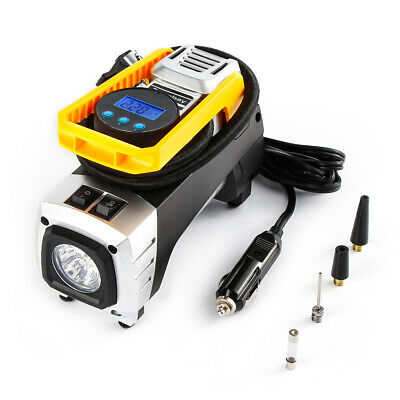 150psl LCD Digital Tyre Inflator Cordless Handheld Air Compressor Pump w/