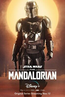 "The Mandalorian Poster 48x32"" 36x24"" 21x14"" New TV Series Star Wars 2019 Silk #2"