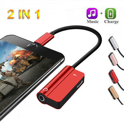 Lightning to 3.5mm AUX Splitter Headphone Jack Adapter For iPhone 7 8 Plus X XR