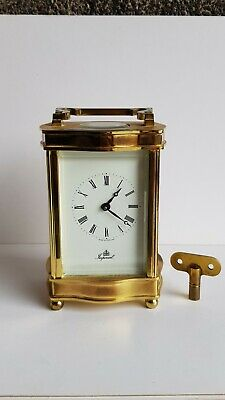 Imperial Solid Brass Carriage Mantel Mantle Clock Fema 11 gem London
