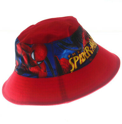 2-8 Years Kids Boys Spiderman Toddler Sunny Buckler Bucket Cap Round Hat Gift