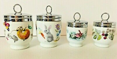 Skippety Tale by Royal Worcester Egg Coddler & Lid 4 Pc Set Jumbo Single