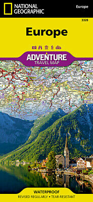 National Geographic Continent / Countries of Europe Adventure Travel Map 3328
