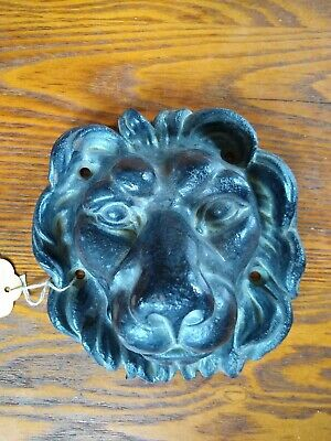 Antique Cast Iron Lion Head Figural Architectural Fountain Wall Mount 1920s