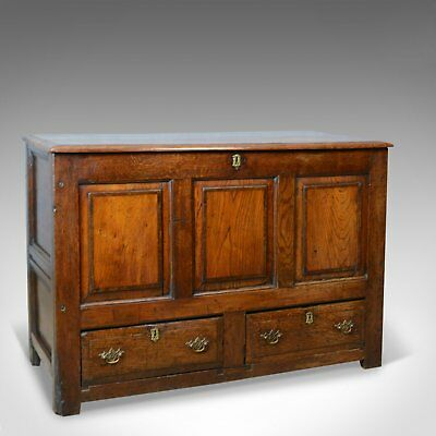 Antique Mule Chest, English, Oak, Trunk, 18th Century, Circa 1700