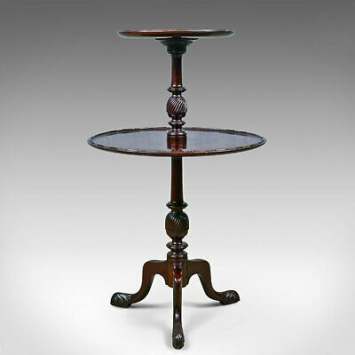 Antique Dumb Waiter, English, Victorian, Mahogany, Two Tier Table, C19th c.1890