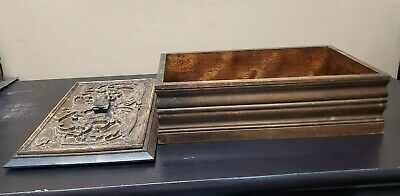 Large Wood Carved Box w/ Lid and Handle Jewelry Trinket Treasure