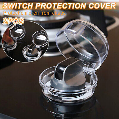 2x Stove Guards Lock Switch Protective Kitchen Cooker Gas Oven Knob Cover Shield