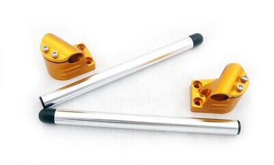 CNC Handle Bar Clip On Kawasaki EX250/Ninja 250R 2008-2012 Gold CA