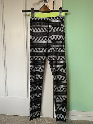 Girls H&M Long Leggings Age 10-12 Years