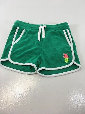 Rockets Of Awesome Little Girls Pineapple Terry Summer Shorts Green/white 7 NWT=