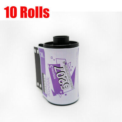 10 Rolls Kodak Vision3 250D/5207 ISO 250 35mm Cine 135-36EXP Color Negative Film