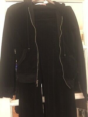 juciy couture tracksuit Black Velour