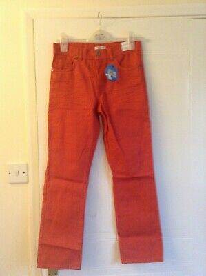 Girls' trousers, age 12, Carmine red, with adjustable waist, pockets, BNWT, rrp