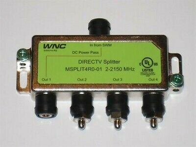 DirecTV 4-Way Splitter SWM DECA MRV SPLIT4