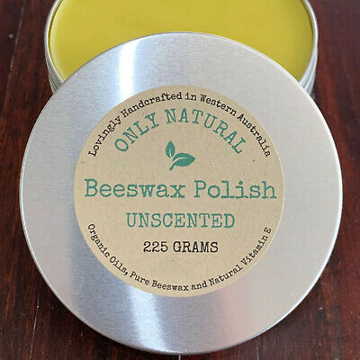 Only Natural Beeswax Woodworking Polish, Food Grade Bees Wax for Timber & Wood