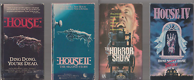 House + II Second Story + Horror Show + IV VHS video Movie Gore Cult 2 3 4 LOT T