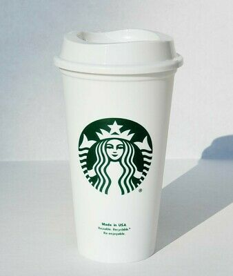 Starbucks Reusable 16 Oz Grande Plastic Travel Cup with Lid Tumbler