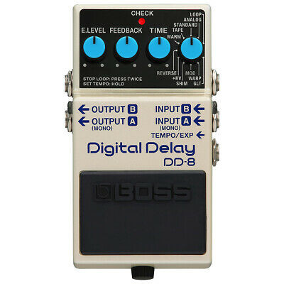 Boss DD-8 Digital Delay Guitar Effects Pedal, 40 Second Recording Time