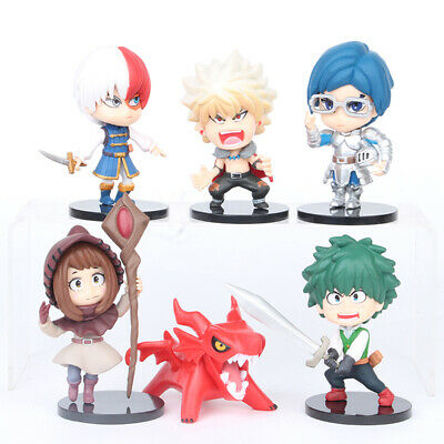 My Hero Academia Midoriya Izuku Todoroki Shoto 6 PCS Action Figure Kid Gift Toys