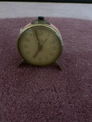 Antique Alarm Travelling Meda Swiss Made 7 Jewels Clock Mechanical Design Clock