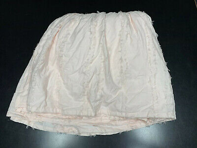 Restoration Hardware Baby & Child Frayed Voile Crib Skirt Petal Pink Girl Ruffle