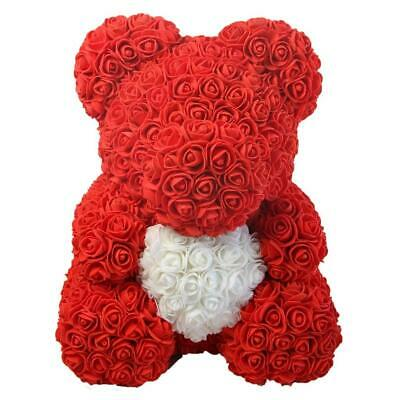Weihnachtsgeschenk Rose Bear Flower Wedding Party Love Teddy 25cm Rot Herz