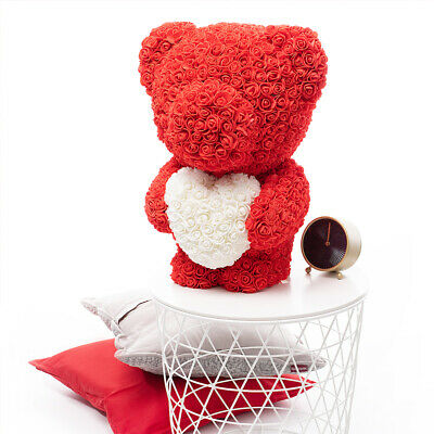 Weihnachtsgeschenk Rose Bear Flower Valentinstag Party Love Teddy 60cm Rot