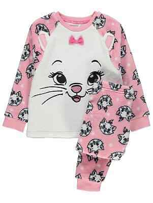 Girls Disney The Aristocats Marie Fleece Pyjamas Pyjama Set Kids PJs   1-9 Years
