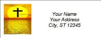 300 Personalized Christian Religious Return Address Labels (R002)
