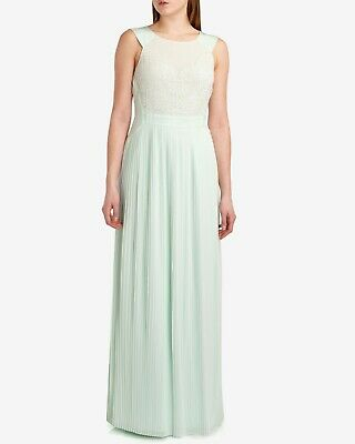 Ted Baker Mint Green Lace Pleated Reversible Bridesmaid Evening Dress