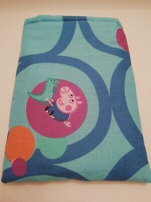 Book Sleeve. Cover. Holiday book Pouch. Book protector. Peppa pig. Handmade
