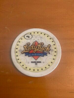 RARE - $1 Chip Lady Luck Casino - Black Hawk, CO - A Great Add To Any Collection