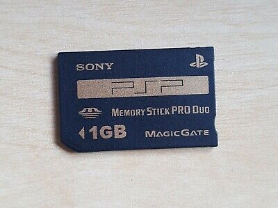 Official SONY Memory Stick Pro Duo 1GB Genuine Black Gold Card 1.0 gb PSP