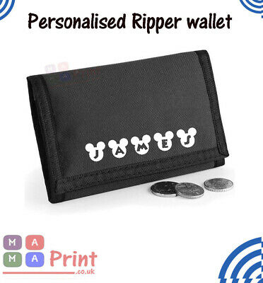 Boys personalised  Ripper Wallet Kids Purse Money Christmas Gift Stocking filler