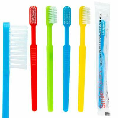 Adult Pre-Pasted Disposable Toothbrushes  144 per pack Assorted Colors