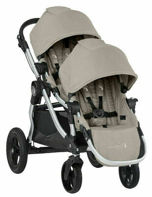 Baby Jogger City Select Twin Tandem Double Stroller w/ Second Seat Paloma 2018