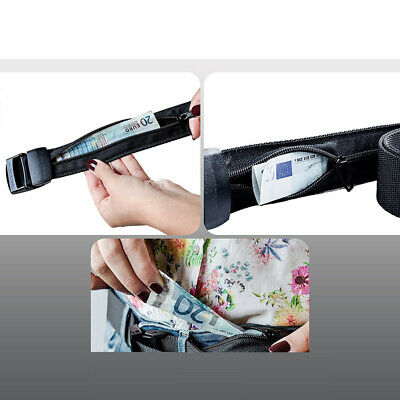 Secret Hidden Travel Waist Money-Belt Wallet Ticket Protect Security Zip Pocket