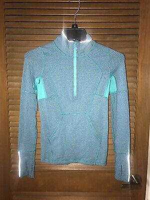 IVIVVA BY LULULEMON Girl's Teal/Purple Half Zip Athletic Pullover Size 10