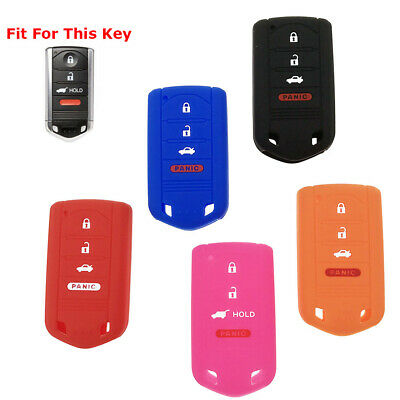 Top 4 Buttons Silicone Key Fob Cover Case Holder Remote For Acura Ilx Zdx Rdx