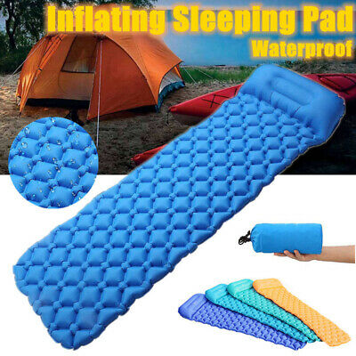 Ultralight Inflatable Camping Air Mattress Blow Up Bed Sleeping Mat Pad