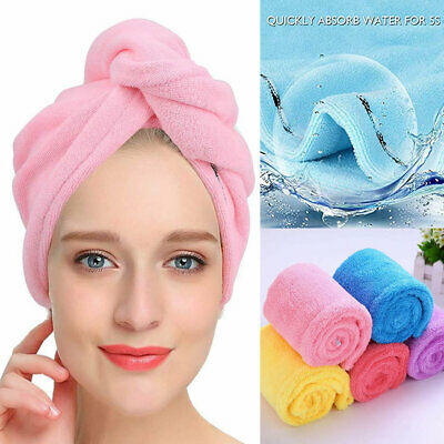Rapid Fast Drying Hair Towel Soft Thick Absorbent Shower Hat Hair Direr Cap UK