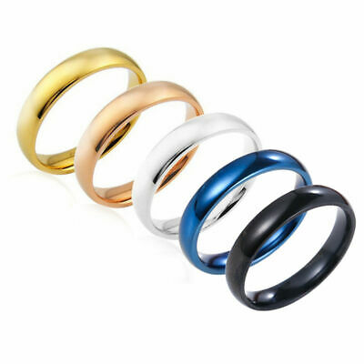 New Plain Stainless Steel Men Women Wedding Band Ring Jewelry Gift Size 5-13