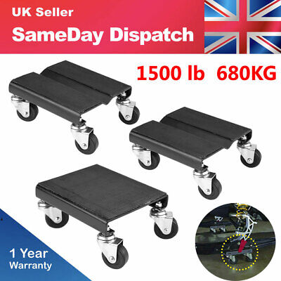 3 Piece 1500LB Por Dolly Tire Wheel Dollies Dolly Heavy Duty Vehicle Car Auto UK