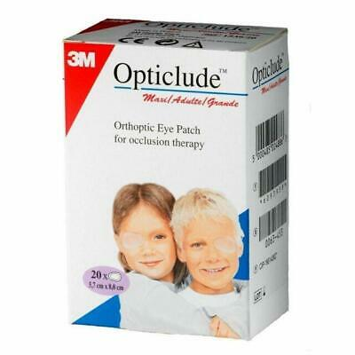 3M Opticlude Maxi Orthoptic Eye Patches, 5.7cm x 8.2cm, Pack of 20